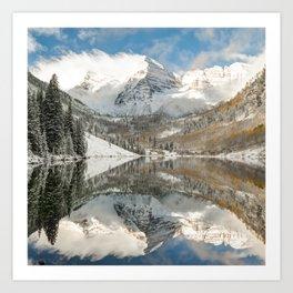 Maroon Bells - Aspen Colorado 1x1 Art Print