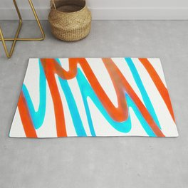 Colored Abstrac Print Design Rug