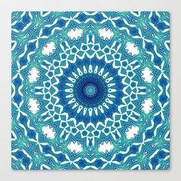Sea Green Mandala Canvas Print