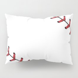 Softball Baseball design red laces Pillow Sham