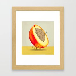 Lazy Peach Pit Framed Art Print