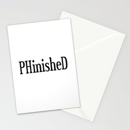 PHinisheD PhD Graduate Gift Stationery Cards
