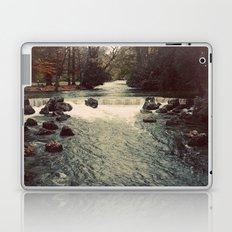 Rocky River Waterfall Englischer Garten Germany Color Photo Isar River Laptop & iPad Skin