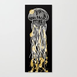 Electric Gold Jellyfish Uno Canvas Print