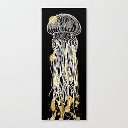 Electric Gold Jellyfish Uno Canvas Print