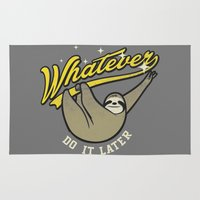 whatever Area & Throw Rugs featuring Whatever by Mathiole