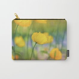 Yellow Poppy Flower Carry-All Pouch