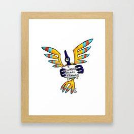 Raven Shaming Framed Art Print