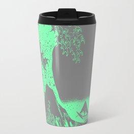 The Great Wave Green & Gray Travel Mug