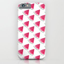 Watermelons in watercolor iPhone Case
