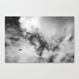 High Flying Paraglider Canvas Print
