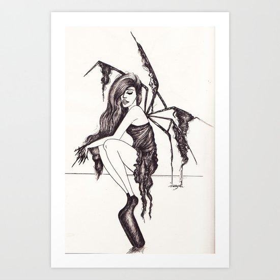 Noritaka Tatehana and umbrella application Art Print
