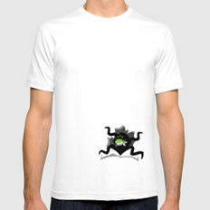 Eater White Mens Fitted Tee SMALL