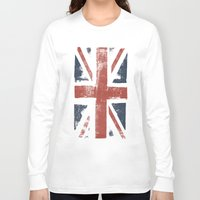 union jack Long Sleeve T-shirts featuring Union Jack by David Hand