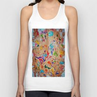 egyptian Tank Tops featuring Egyptian papyrus by Sandra Angelini