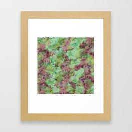 Seamless Pattern of Tropical Leaves II Framed Art Print