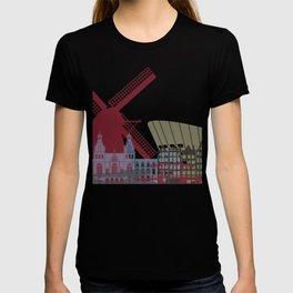 Amsterdam skyline poster T-shirt