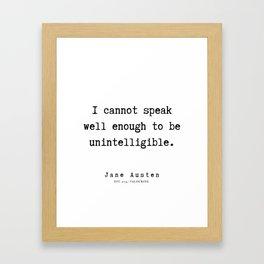 76   | Jane Austen Quotes | 190722 Framed Art Print