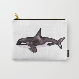 Watercolor Orca Killer Whale Carry-All Pouch
