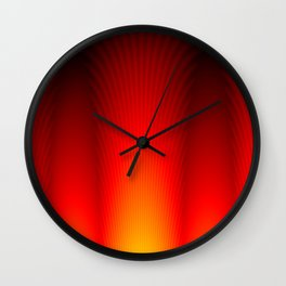Pillars of Flame Wall Clock