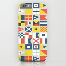 Geometric Nautical flag and pennant Slim Case iPhone 6