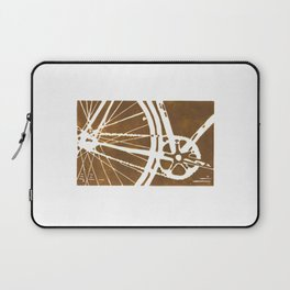 Brown Bike Laptop Sleeve