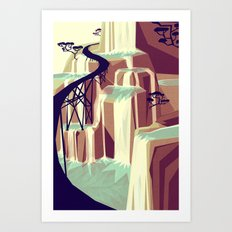 The black bridge Art Print