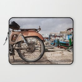 Moped in harbor Laptop Sleeve
