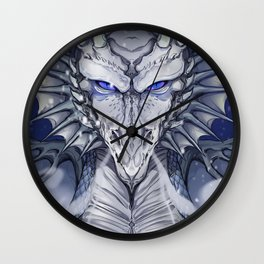 The Dragon and the Storm Wall Clock