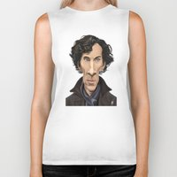 benedict cumberbatch Biker Tanks featuring Celebrity Sunday ~ Benedict Cumberbatch by rob art | illustration