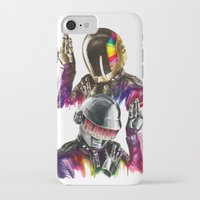 daft punk iPhone & iPod Cases featuring Daft punk  by beart24