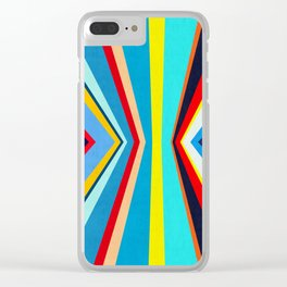Geometric and colorful Clear iPhone Case