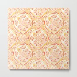 Geometric pizza pattern Metal Print