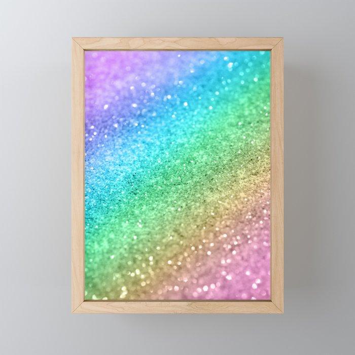 Rainbow Princess Glitter #1 #shiny #decor #art #society6 Framed Mini Art Print