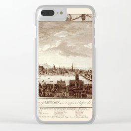 London 1666 Clear iPhone Case