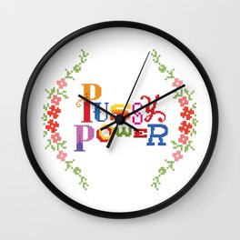PussyPower Wall Clock