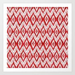 Bohemian Christmas - Ruby Art Print