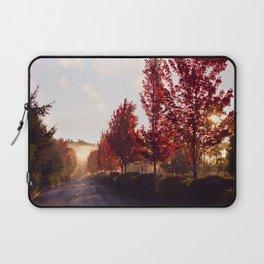 Fall Sunrise in the Fog Laptop Sleeve