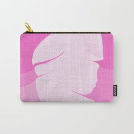 Tropical Banana Leave Pastel Pink Ombre Design Carry-All Pouch