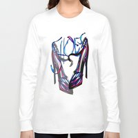shoes Long Sleeve T-shirts featuring Shoes by Digital-Art