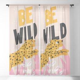 Be Wild: The Peach Edition Sheer Curtain