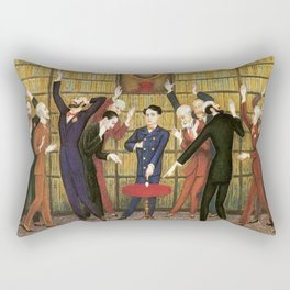 Columbus and the Egg Story; anyone can do anything with the right skill set portrait by Nils Dardel Rectangular Pillow