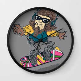 teen wolf on a hover board Wall Clock