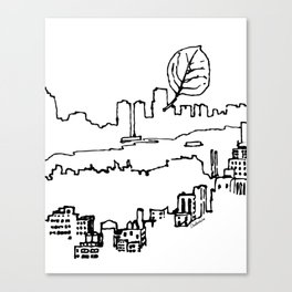 Central Park Leaf Sketch Canvas Print