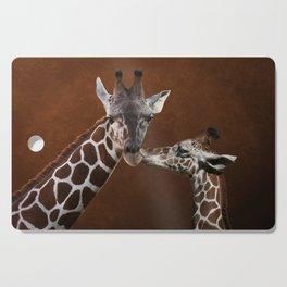 Love You - Affectionate Giraffes Cutting Board