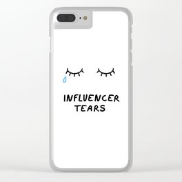 Influencer Tears Clear iPhone Case