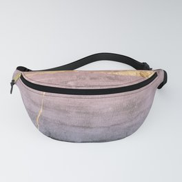 Watercolor Gradient Gold Foil Fanny Pack