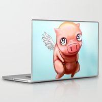 pigs Laptop & iPad Skins featuring When Pigs.... by Stephen Yan