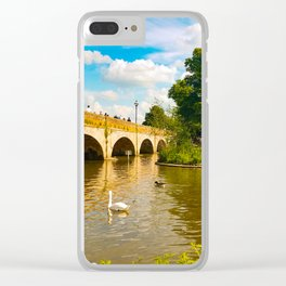 Across the Avon // Stratford-upon-Avon, UK Clear iPhone Case