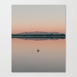Sunrise droplet reflection in New Mexico Canvas Print